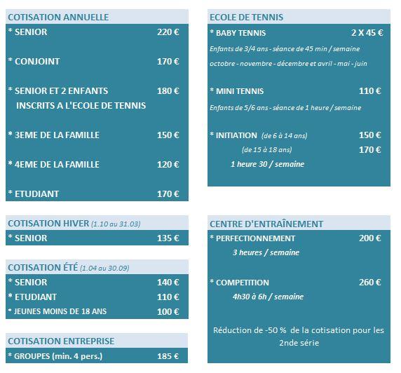 TARIF 2015-2016